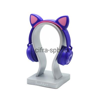 Беспроводные наушники ZW-028 с микрофоном Светящиеся ушки полноразмерные сине-розовый купить оптом | cifra-spb.ru