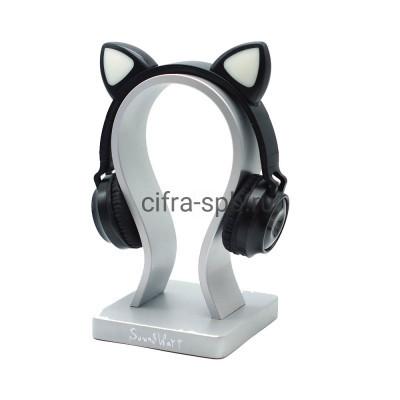 Беспроводные наушники ZW-028 с микрофоном Светящиеся ушки полноразмерные черный купить оптом | cifra-spb.ru
