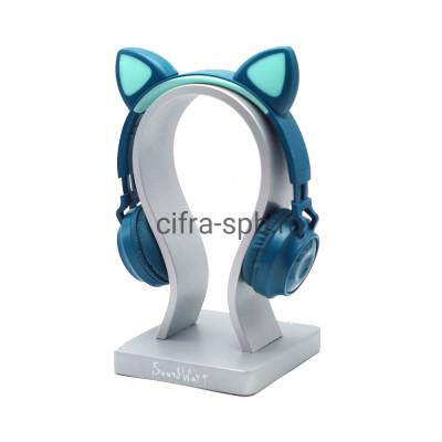 Беспроводные наушники ZW-028 с микрофоном Светящиеся ушки полноразмерные сине-бирюзовый купить оптом | cifra-spb.ru