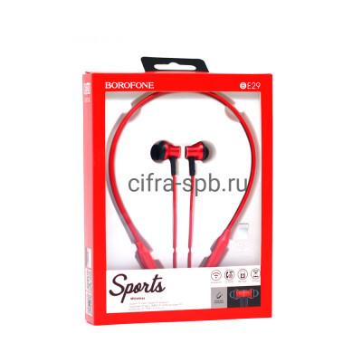 Беспроводные наушники BE29 с микрофоном красный Borofone купить оптом | cifra-spb.ru