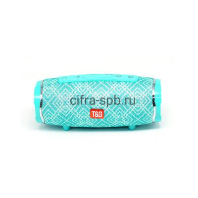 Беспроводная колонка TG-145 бирюзовый с принтом T&G купить оптом   cifra-spb.ru
