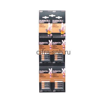 Батарейка LR03 отрывной Duracell 16шт. (цена за ед.) купить оптом | cifra-spb.ru