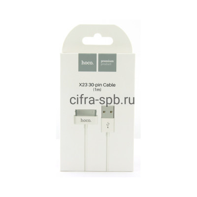 Кабель iPhone 4 X23 белый Hoco 1m купить оптом | cifra-spb.ru