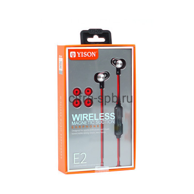 Беспроводные наушники E2 с микрофоном красный Yison купить оптом | cifra-spb.ru