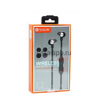 Беспроводные наушники E2 с микрофоном черный Yison купить оптом | cifra-spb.ru
