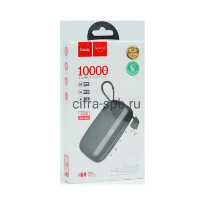 Power Bank 10000mAh S29 + кабель Lightning черный Hoco купить оптом | cifra-spb.ru