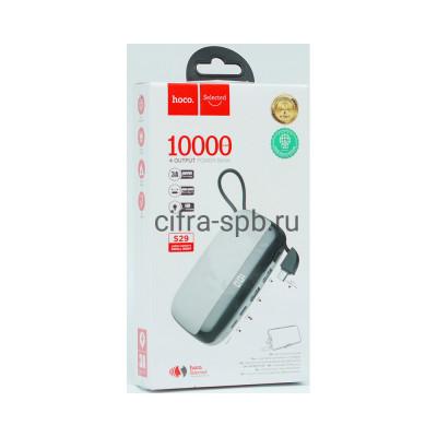 Power Bank 10000mAh S29 + кабель Type-C белый Hoco купить оптом | cifra-spb.ru