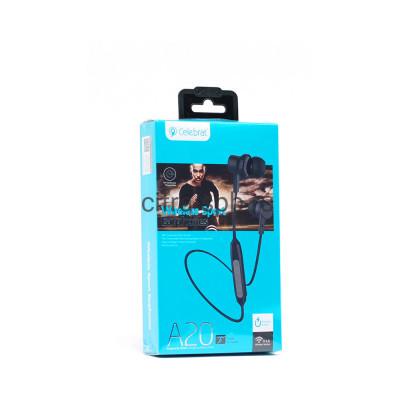 Беспроводные наушники A20 с микрофоном черный Celebrat купить оптом | cifra-spb.ru