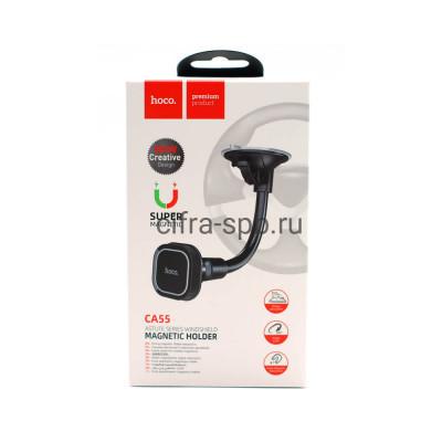 Держатель для телефона CA55 магнитный черно-серый Hoco купить оптом | cifra-spb.ru