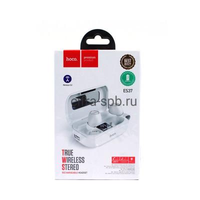Беспроводные наушники ES37 с микрофоном + Power bank 2600mAh белый Hoco купить оптом | cifra-spb.ru