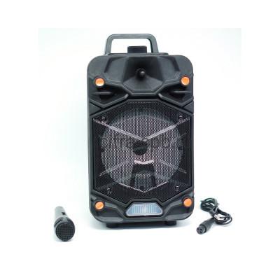 Беспроводная колонка OTY-657 + проводной микрофоном + пульт черный купить оптом | cifra-spb.ru