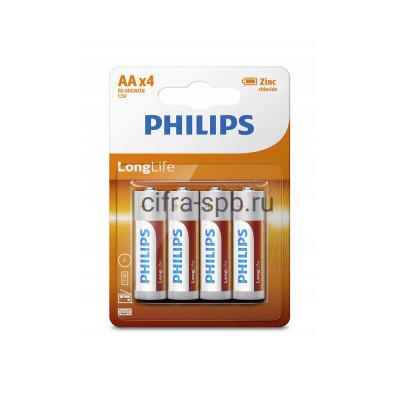 Батарейка R6 Philips 4шт. (цена за ед.) купить оптом | cifra-spb.ru