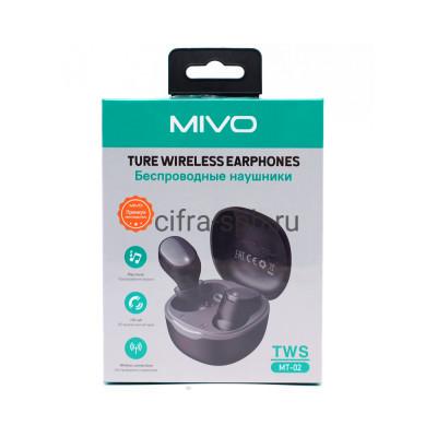 Беспроводные наушники TWS МТ-02 черный Mivo купить оптом   cifra-spb.ru