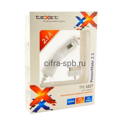 АЗУ iPhone 4 TPC-1027 2.1A TEXET купить оптом | cifra-spb.ru