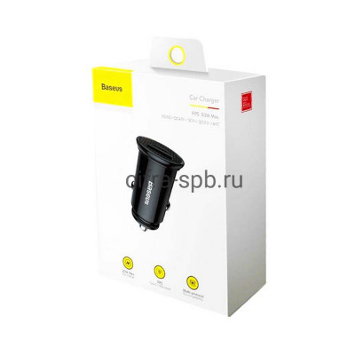 АЗУ USB Type-C CCALL-YS01 QC3.0 30W черный Baseus купить оптом   cifra-spb.ru
