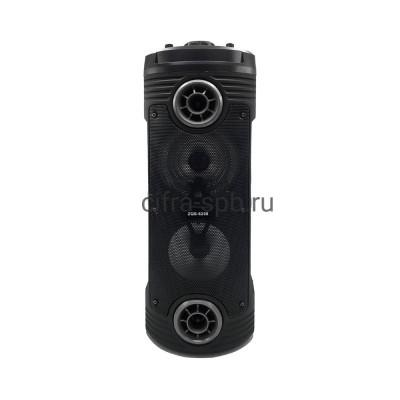 Беспроводная колонка ZQS-6208 + проводной микрофон черно-серый купить оптом | cifra-spb.ru