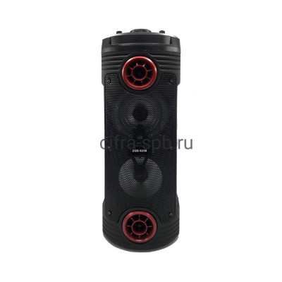 Беспроводная колонка ZQS-6208 + проводной микрофон черно-красный купить оптом | cifra-spb.ru