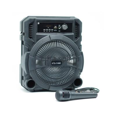 Беспроводная колонка KTS-1149С + пульт/микрофон черный KTS купить оптом | cifra-spb.ru