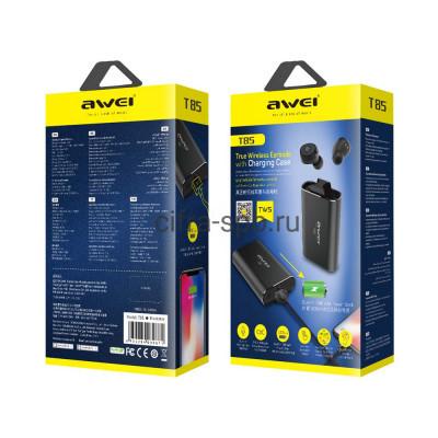 Беспроводные наушники T85 TWS + Power Bank 1800mAh с микрофоном черный Awei купить оптом | cifra-spb.ru