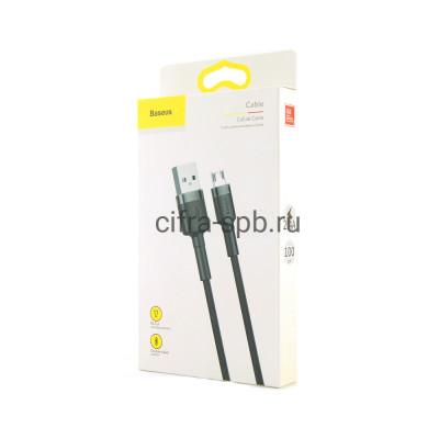 Кабель Micro CAMKLF-BG1 2.4A черно-серый Baseus 1m купить оптом | cifra-spb.ru