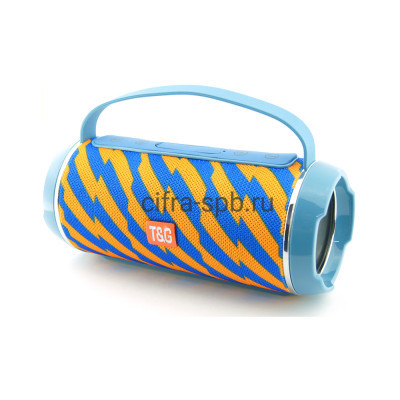 Беспроводная колонка TG-116C с ручкой c принтом 2 T&G купить оптом | cifra-spb.ru