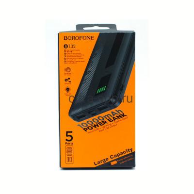 Power Bank 10000mAh BT32 2USB черный Borofone купить оптом | cifra-spb.ru
