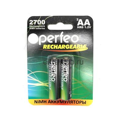 Аккумуляторные батарейки R6 1.2V 2700 mAh 2шт. Perfeo (Цена за ед.) купить оптом   cifra-spb.ru