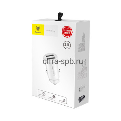 АЗУ 2USB CCALL-YD02 QC3.0 30W белый Baseus купить оптом | cifra-spb.ru