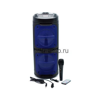 Беспроводная колонка ZQS-6209 + проводной микрофон + пульт черно-синий купить оптом | cifra-spb.ru