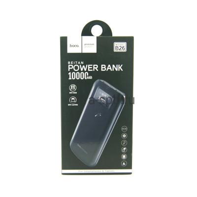 Power Bank 10000mAh B26 черный Hoco купить оптом | cifra-spb.ru