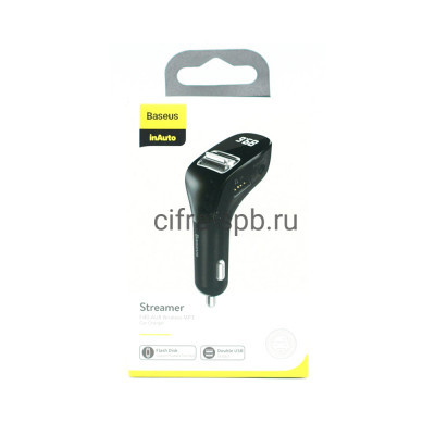 FM-Модулятор USB CCF40-01 черный Baseus купить оптом | cifra-spb.ru