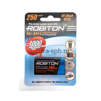 Аккумуляторная батарейка крона 6F22 9V 250 mAh ROBITON купить оптом | cifra-spb.ru