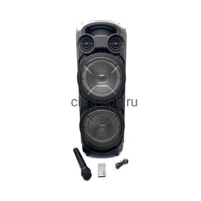 Беспроводная колонка ZQS-8208 + пульт + беспроводной микрофон черный купить оптом   cifra-spb.ru
