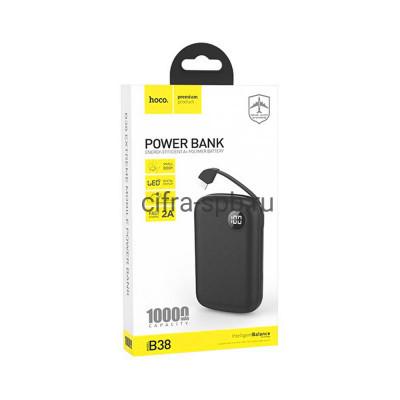 Power Bank 10000mAh B38 черный Hoco купить оптом   cifra-spb.ru
