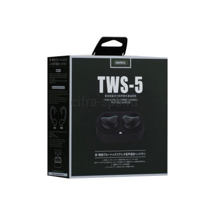 Беспроводные наушники TWS-5 с микрофоном черный Remax купить оптом   cifra-spb.ru