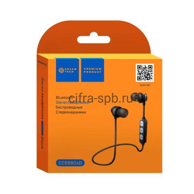 Беспроводные наушники EEB8804B с микрофоном черный Dream купить оптом | cifra-spb.ru