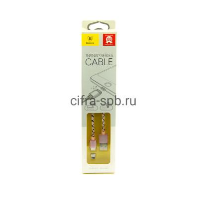 Кабель Lightning CALIGHTNG-LF0R магнитный розовый Baseus 1m купить оптом | cifra-spb.ru