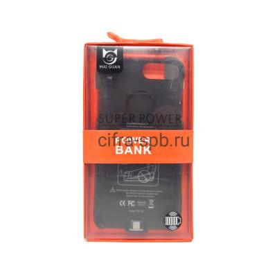 Power Bank 5000mAh Чехол iPhone 7+/8+ черный купить оптом | cifra-spb.ru