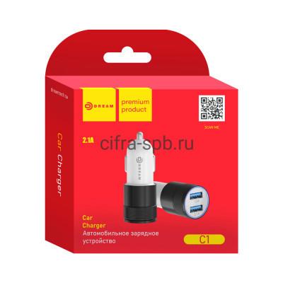 АЗУ 2USB C1 2.1A черно-белый Dream купить оптом | cifra-spb.ru