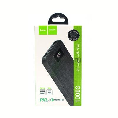 Power Bank 10000mAh J47 2USB/PD QC3.0 18W черный Hoco купить оптом | cifra-spb.ru