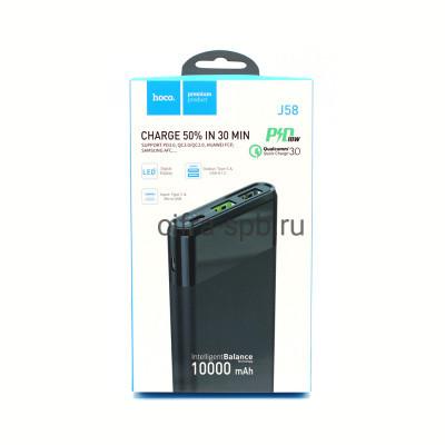 Power Bank 10000mAh J58 2USB/PD QC3.0 18W черный Hoco купить оптом | cifra-spb.ru