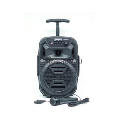 Беспроводная колонка ZQS-6111 + проводной микрофон черный купить оптом | cifra-spb.ru