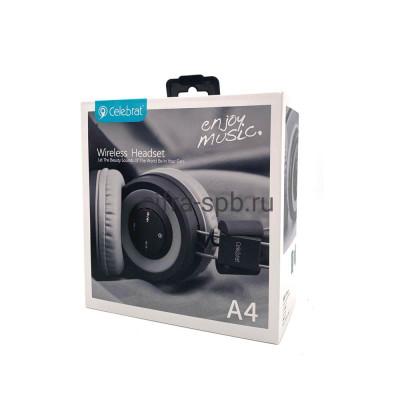 Беспроводные наушники A4 полноразмерные с микрофоном черный Celebrat купить оптом | cifra-spb.ru