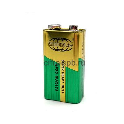Батарейка крона 6F22 9V WINPOW A+ 1шт купить оптом | cifra-spb.ru