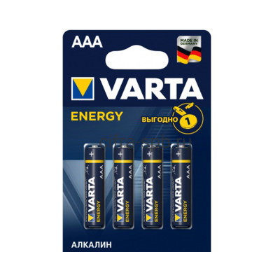 Батарейки LR03 Energy Varta 4шт (цена за ед.) купить оптом | cifra-spb.ru