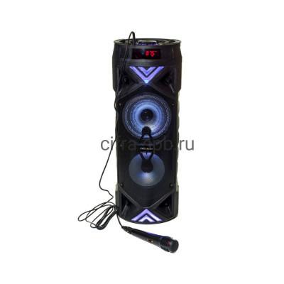 Беспроводная колонка ZQS-6201 + проводной микрофон черный купить оптом | cifra-spb.ru