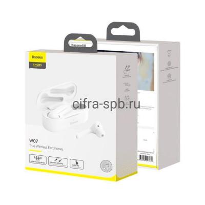 Беспроводные наушники NGW07-02 Encok с микрофоном белый Baseus купить оптом | cifra-spb.ru