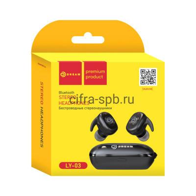 Беспроводные наушники DRM-LY03 с микрофоном черный Dream купить оптом | cifra-spb.ru
