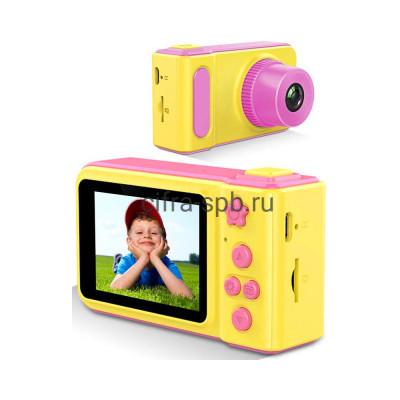 Детский фотоаппарат D601(GC0308) желто-розовый купить оптом | cifra-spb.ru