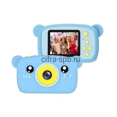 Детский фотоаппарат голубой + чехол мишка купить оптом | cifra-spb.ru